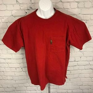 Columbia Men Red Crewneck Tee Short Sleeve Tshirt
